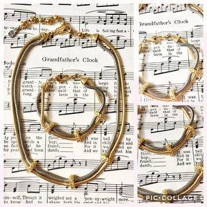 LIZ CLAIBORNE SET Necklace Bracelet Mixed Metal